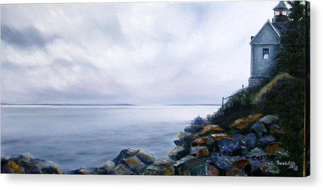 Ocean Acrylic Print featuring the painting Bass Harbor Maine by Brenda Ellis Sauro
