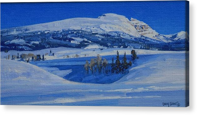 Landscape Acrylic Print featuring the painting Clear And Cold by Lanny Grant