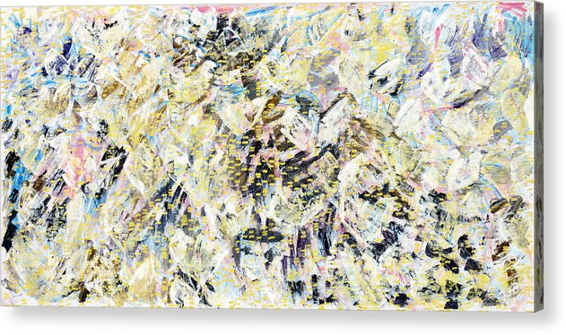 Abstract Acrylic Print featuring the painting Flock Of Birds by Joan De Bot