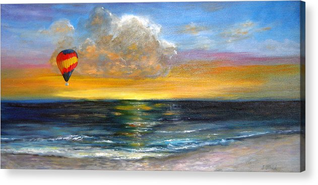 Landscape Acrylic Print featuring the painting Fly Away by Jeannette Ulrich