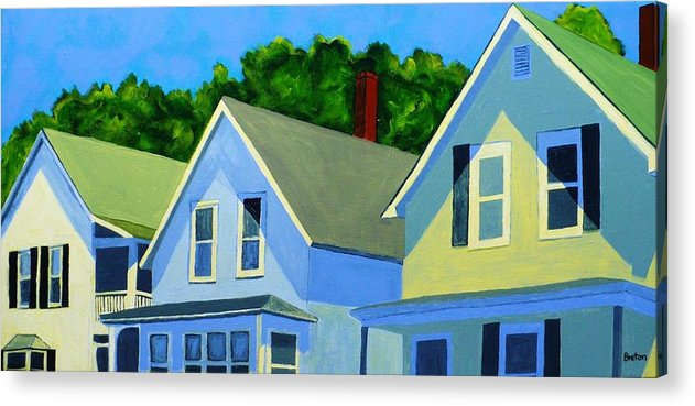Cityscape Acrylic Print featuring the painting High Noon by Laurie Breton