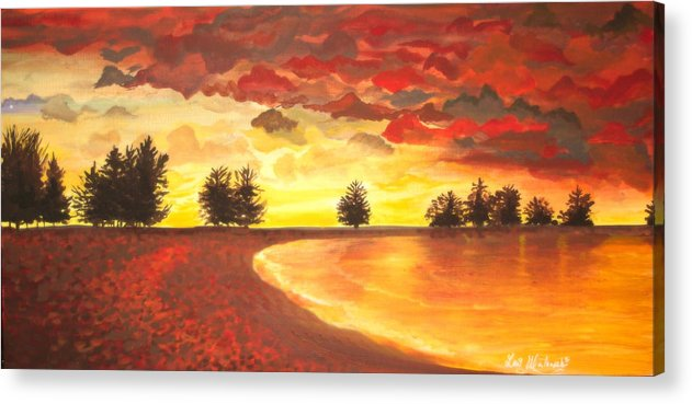 Landscape Acrylic Print featuring the painting Only Once by Lori Ulatowski