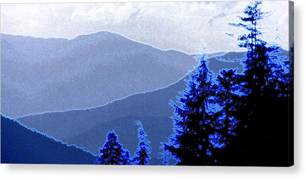 Mountains Acrylic Print featuring the photograph Ridge Layers 4 Ae by Lyle Crump
