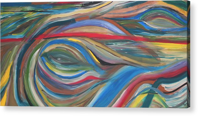 Abstract Artwork Acrylic Print featuring the painting The Eye by Shiree Gilmore