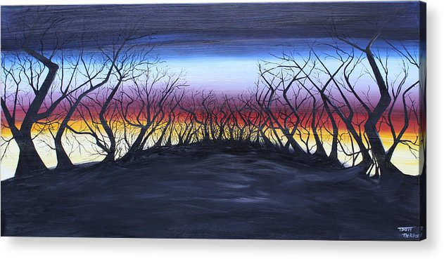 Trees Acrylic Print featuring the painting The Hill by Tammy Dunn