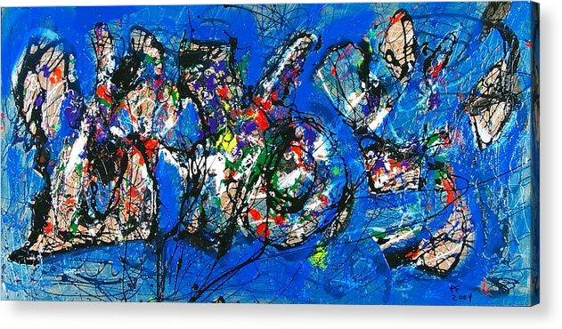Abstract Acrylic Print featuring the painting Urban Landscape by Paul Freidin