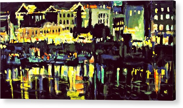 Night Acrylic Print featuring the painting Victoria Nocturnal by Brian Simons