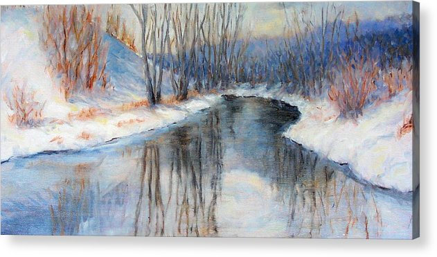 Winter Acrylic Print featuring the painting Winter Reflection by Ruth Mabee