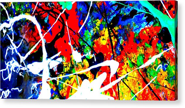 Abstract Acrylic Print featuring the painting abstract composition K12 by Lee Eggstein