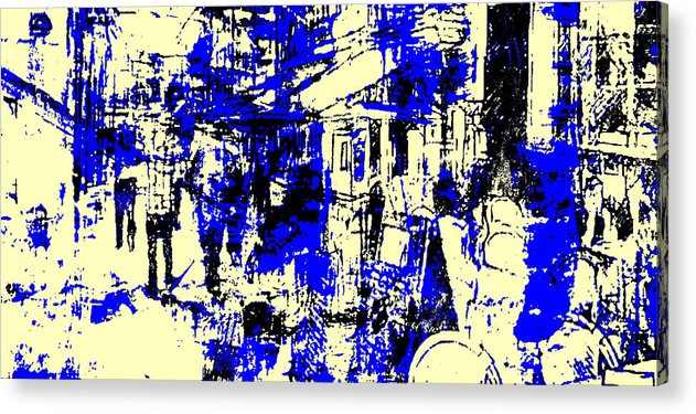 Shopping Acrylic Print featuring the mixed media Strasbourg by Lee Eggstein