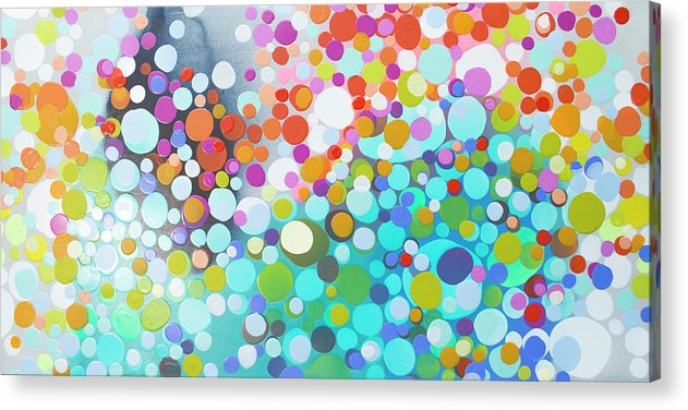 Abstract Acrylic Print featuring the painting Sweet Thing by Claire Desjardins