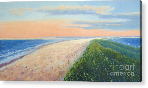 Landscape Acrylic Print featuring the painting Wanderlust by Laura Roberts