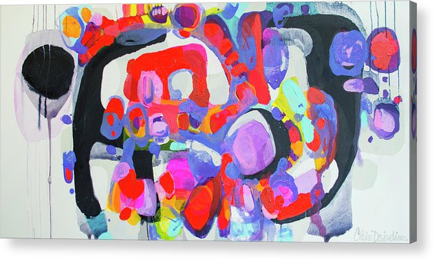 Abstract Acrylic Print featuring the painting Try Me by Claire Desjardins