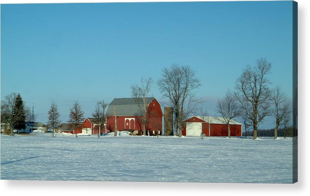 Barn Acrylic Print featuring the photograph 020409-3 by Mike Davis