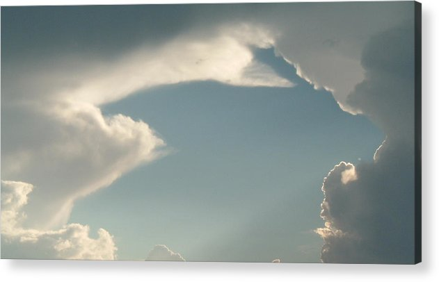 Sky Acrylic Print featuring the photograph Atmospheric Barcode 07 7 2008 13 Homage To Michealangelo by Donald Burroughs