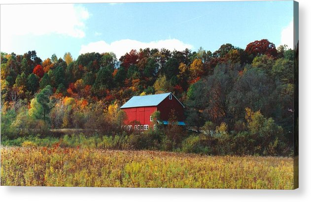 Barns Acrylic Print featuring the photograph 080806-7 by Mike Davis