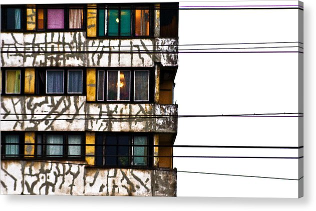Lines Acrylic Print featuring the photograph Lines by Vadim Grabbe