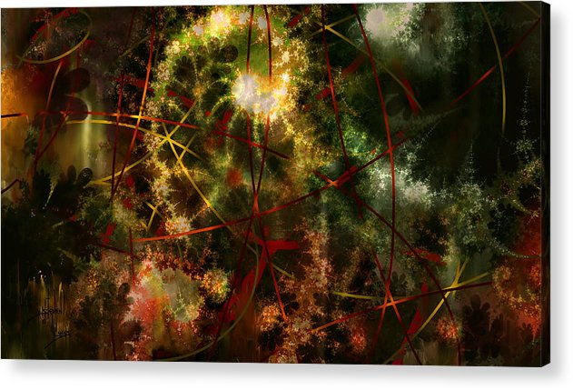 Abstract Acrylic Print featuring the digital art Bridges To Inner Sanctums by Stephen Lucas