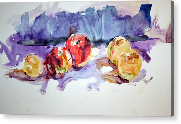 Still Life Acrylic Print featuring the painting Apples by Roger Parnow