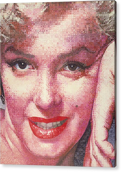Marilyn Monroe Acrylic Print featuring the painting Marilyn by Randy Ford