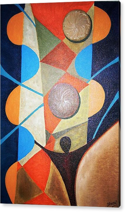 Abstract Acrylic Print featuring the painting Aspirations by Dhiraj Tripathi