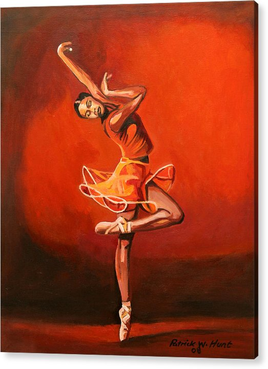 Ballet Dancer Acrylic Print featuring the painting Ballet Lady by Patrick Hunt