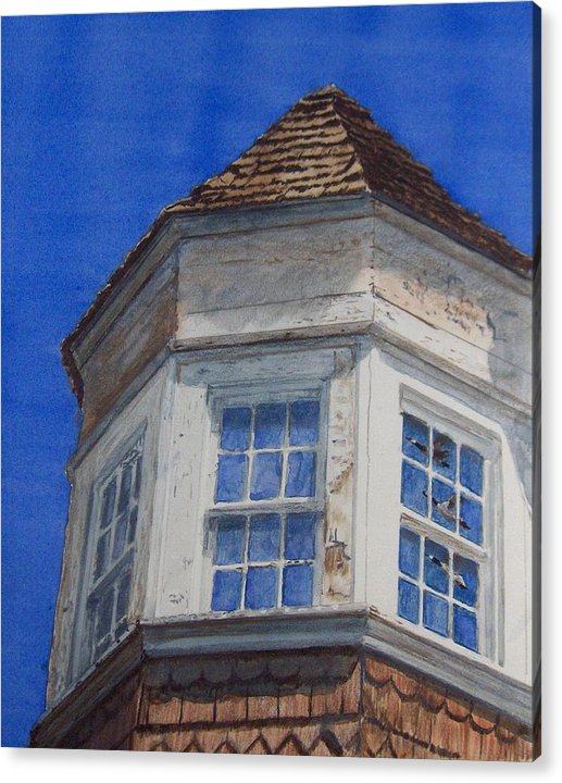 Old Tower Acrylic Print featuring the painting Heading South by Haldy Gifford
