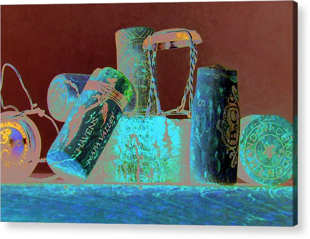 Wine Acrylic Print featuring the painting Domain Chandon by Randy Ford