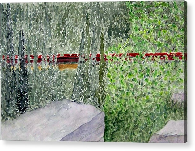 Train Art Acrylic Print featuring the painting Train Spotting by Larry Wright