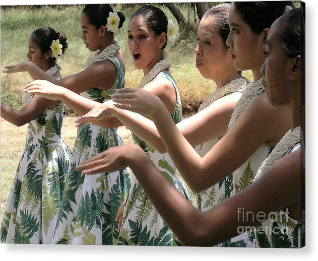James Temple Acrylic Print featuring the photograph Lovely Hula Hands by James Temple