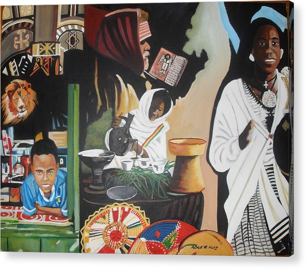 Ethiopia Acrylic Print featuring the painting Ethiopian Traditions by Patrick Hunt