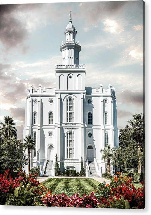 Saint Acrylic Print featuring the photograph St George Temple - Tower of the Lord by Brent Borup