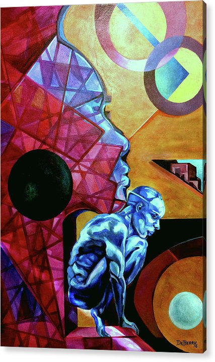 Original Oil On Canvas Board. Acrylic Print featuring the painting Leap of Faith by Lloyd DeBerry