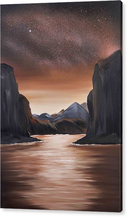 Landscape Acrylic Print featuring the painting The Passage beyond the boundaries by Ara Elena