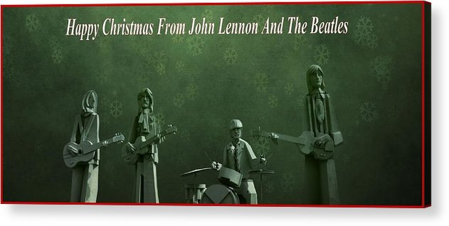 Happy Christmas From John Lennon Acrylic Print featuring the photograph Happy Christmas From John Lennon by Dan Sproul