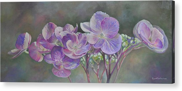 Acrylic Acrylic Print featuring the painting Hortensia de St Jean by Muriel Dolemieux