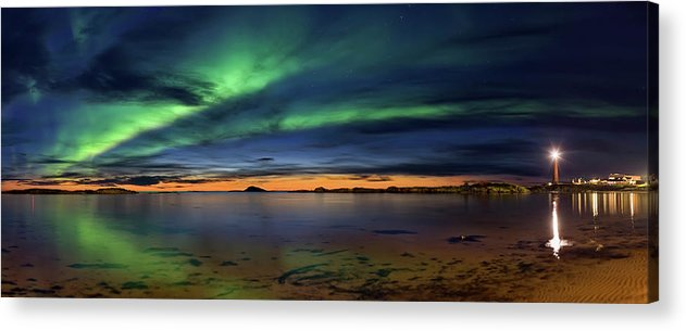 Aurora Acrylic Print featuring the photograph Sunset At Andenes by Roy Samuelsen