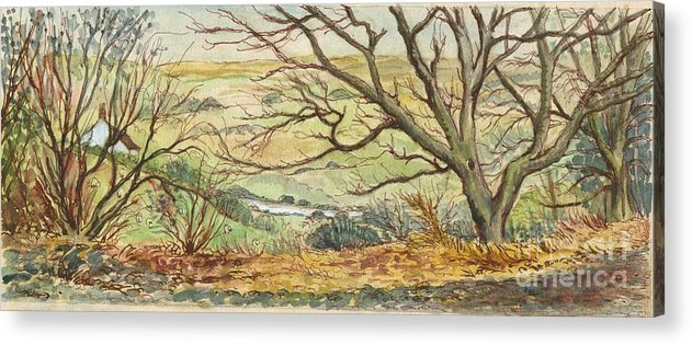 Art Acrylic Print featuring the painting Country Scene Collection 2 by Morgan Fitzsimons