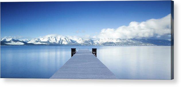 Lake Acrylic Print featuring the photograph Lake Tahoe Panorama by Matthew Train
