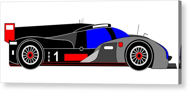 Audi Acrylic Print featuring the digital art Le Mans 2011 Audi R18 Number 1 by Asbjorn Lonvig