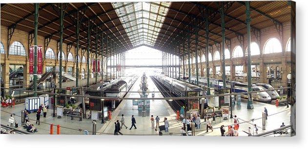 Paris Acrylic Print featuring the photograph Paris Train Station by Al Blackford