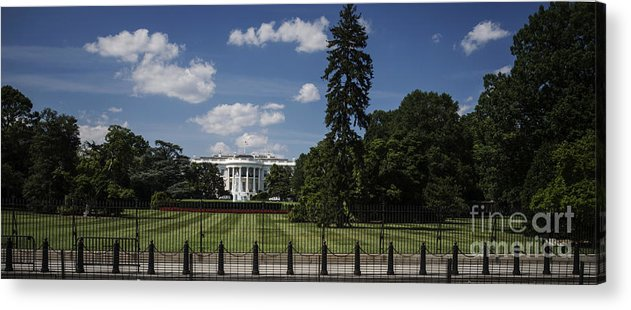 South Lawn Acrylic Print featuring the photograph South Lawn - White House by David Bearden