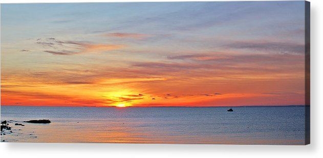 Sunrise Acrylic Print featuring the photograph Superior Sunrise by Bill Morgenstern