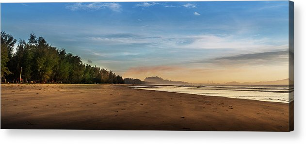 Tranquility Acrylic Print featuring the photograph Eastern Edge Of Malaysia by Simonlong