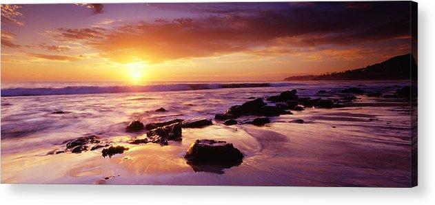 Scenics Acrylic Print featuring the photograph Sunset At Laguna Beach by Jason v