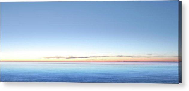 Lake Michigan Acrylic Print featuring the photograph Xxl Serene Twilight Lake by Sharply done