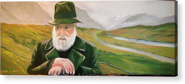 Irish Landscapes Paintings Ireland The Field Richard Harris Leenane Co Galway J.b Keane Acrylic Print featuring the painting Richard Harris In The Film Called The Field by Cathal O malley
