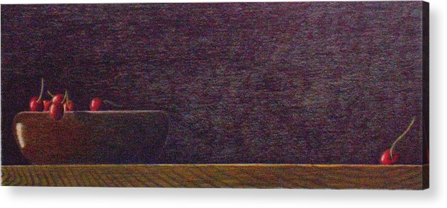 Still Life Acrylic Print featuring the painting Runaway by A Robert Malcom