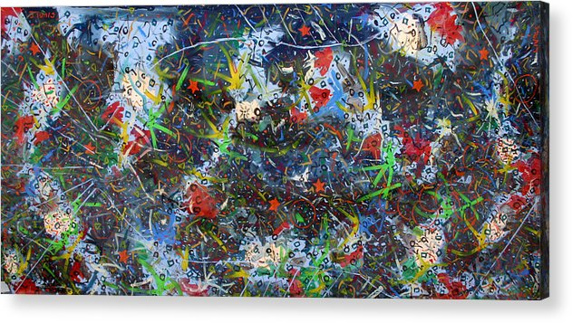Abstract Acrylic Print featuring the painting Big fish by Biagio Civale