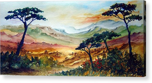 Africa Acrylic Print featuring the painting Africa by Jo Smoley